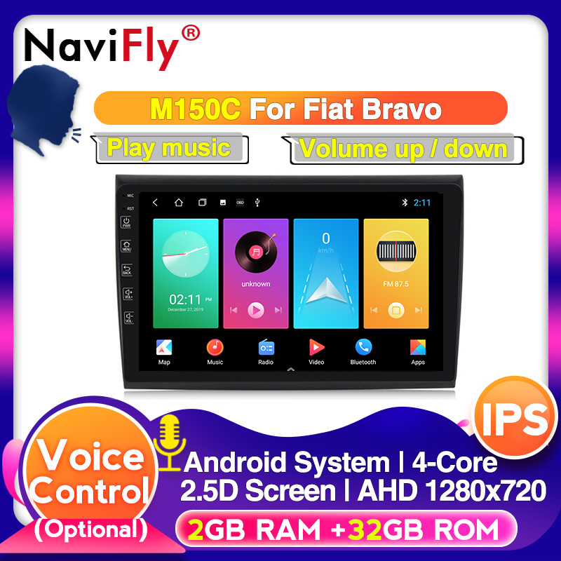 Android10.0 Car Multimedia Radio For Fiat Bravo 2007 - 2012 9inch Car GPS Navigation Player Support 1280*720 HD IPS With DSP BT