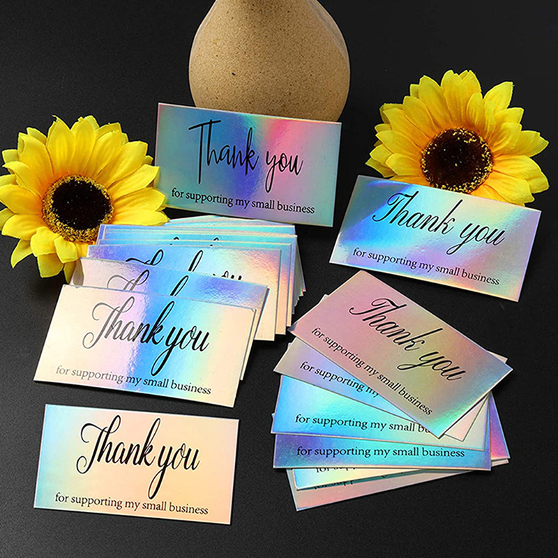 50pcs Thank You for Order Business Cards Shopping Purchase Thanks Greeting Cards