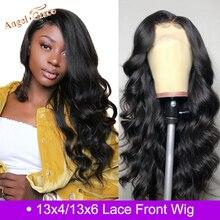 Ангел Грация бразильские тело волна Синтетические волосы на кружеве волосы парик 13X4/13x6 Remy человеческие волосы парики для женщин предварительно выщипанные волосы с детскими волосами