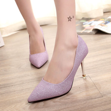 2019 Spring/Summer Sexy Women Close Pointed Toe Pumps PVC Clear Transparent Ultra High Heel Stiletto