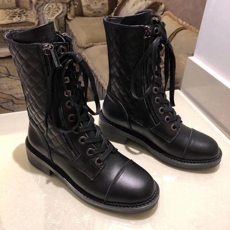 Г., новые модные повседневные женские ботинки «Мартенс» удобные вязаные дышащие женские ботинки на шнуровке женская обувь на толстой подошве - Цвет: 3