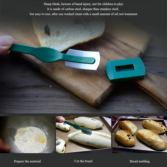 French ABS handle cake bread mold baking tool spit justice stick bread knife with thin carbon steel blade kitchen party tool