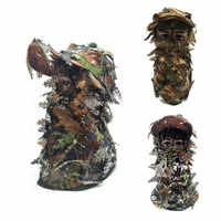 Camouflage Facial Mask 3D Stereo Sheet Turkey Hunting Mask Hat Balaclava Full Forest CS Facial Mask