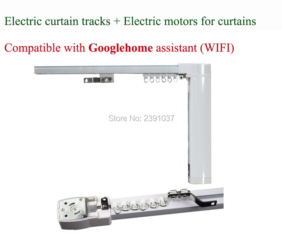 Electric Curtain Tracks + Electric Motors For Curtains Compatible With Google Home Assistant (WIFI) 100-240V Smart Home Device