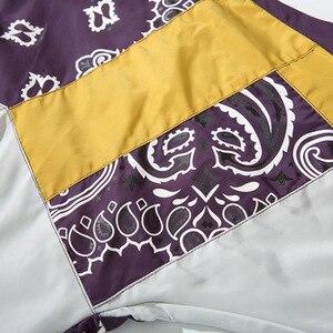 Image 5 - Vintage Harajuku Pullover Giubbotti Hip Hop Stampa Floreale 2020 Autunno Zip Giacca A Vento Giacca Patchwork Streetwear Fiori di Grandi Dimensioni