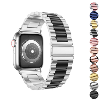 Link bracelet strap for apple watch 4 5 apple watch band 42mm 38mm 44mm 40mm iwatch pulseira 5/4/3/2/1 stainless steel belt+tool luxury watch strap for apple watch 5 4 3 2 1 band 40mm 38mm 44mm 42mm iwatch band diamond stainless steel link bracelet
