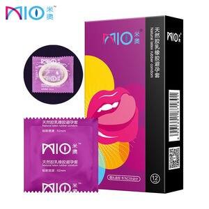 12pcs/lot Oral Sex Condoms Natural Latex Condom Penis Sleeve Blowjob Preservativo Contraception Ultra Thin Adult Sex Toy for Men