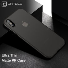 Cafele caso original para iphone x xr xs max casos ultra fino pp moda transparente caso de volta para apple iphone x xs concha(China)