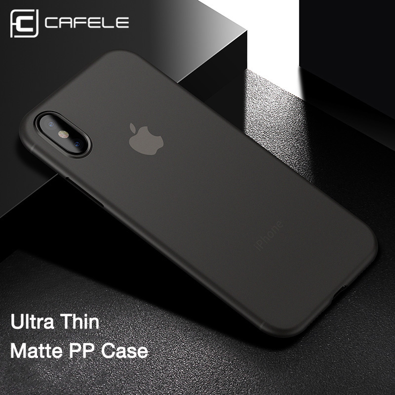 CAFELE Оригинален калъф за iphone Xs / Xs Max случаи Ултра тънък PP Моден прозрачен калъф за гръб за Apple iphone xs черупка