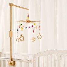 Cartoon Animals Bed Bell Musical Box Baby Crib Mobiles Rattles Carousel Crib Holder Music Newborn Baby Educational Handmade Toys