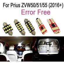 Kit d'ampoules LED en forme de dôme intérieur, 12 pièces, blanc parfait, pour Toyota, Prius ZVW50, ZVW51, ZVW55 (2016 +)