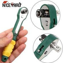 Niceyard mini 1/4 chave de fenda haste ajustável rápida chave de catraca ferramentas de chave de soquete rápido
