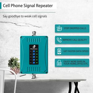 Image 2 - 800/900/1800/2100/2600/MHz 2G 3G 4G GSM مكرر شبكة المحمول الداعم هاتف محمول مكرر 4G LTE مكبر للصوت إشارة الداعم مجموعة