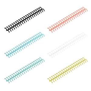 10pcs Plastic Loose Leaf Link Spiral Circles Binder Ring for 30 Holes Notebook N0HC