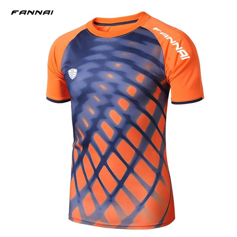 2019 New Arrive Men Short Sleeve Running Shirt Sport T shirt Outdoor Jogging Tops Gym Training Dry Fit Uniform Sportswear in Running T Shirts from Sports Entertainment