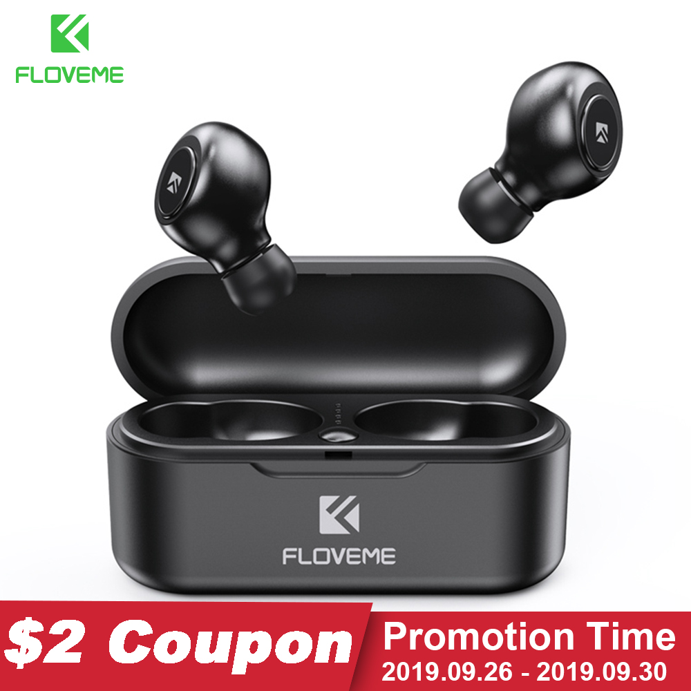 FLOVEME TWS 5.0 Bluetooth Earphone Headset For Xiaomi Redmi Wireless Earphones Headphones Stereo Sound Earbuds Dual Microphone