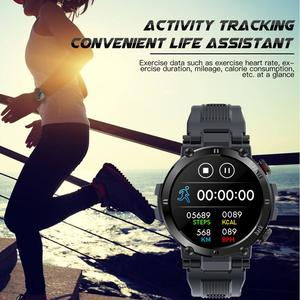 Image 2 - SENBONO 2020 Men Full Touch Screen Smart Watch IP68 Waterproof support HR/BP Fitness Tracker D13 smartwatch for IOS Android