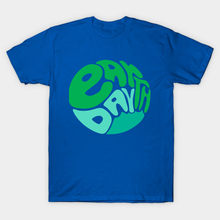 Men t-shirt Abstract Earth Day Typography by frecklefacedoodles tshirt Women t shirt(China)