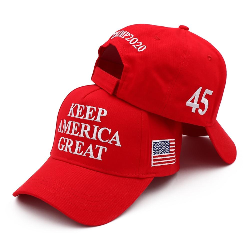Американская бейсбольная хлопковая Кепка с вышивкой Keep America Great 45, Президент Трамп 2024, Республиканская KAG MAGA