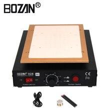 110 В или 220 В Мобильный Встроенный насос вакуумный металлический корпус стеклянный вакуумный ЖК-экран сепаратор макс 7 дюймов с 100 м режущая проволока BOZAN