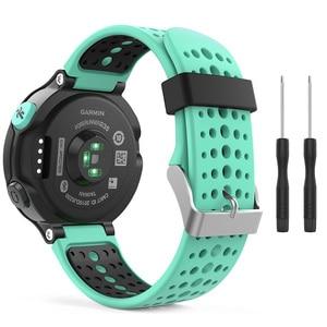 Image 3 - 13colors For Garmin Forerunner 235 WatchBand Silicone Strap Bracelet For Garmin Forerunner 220/230/620/630/735XT GPS Accessories