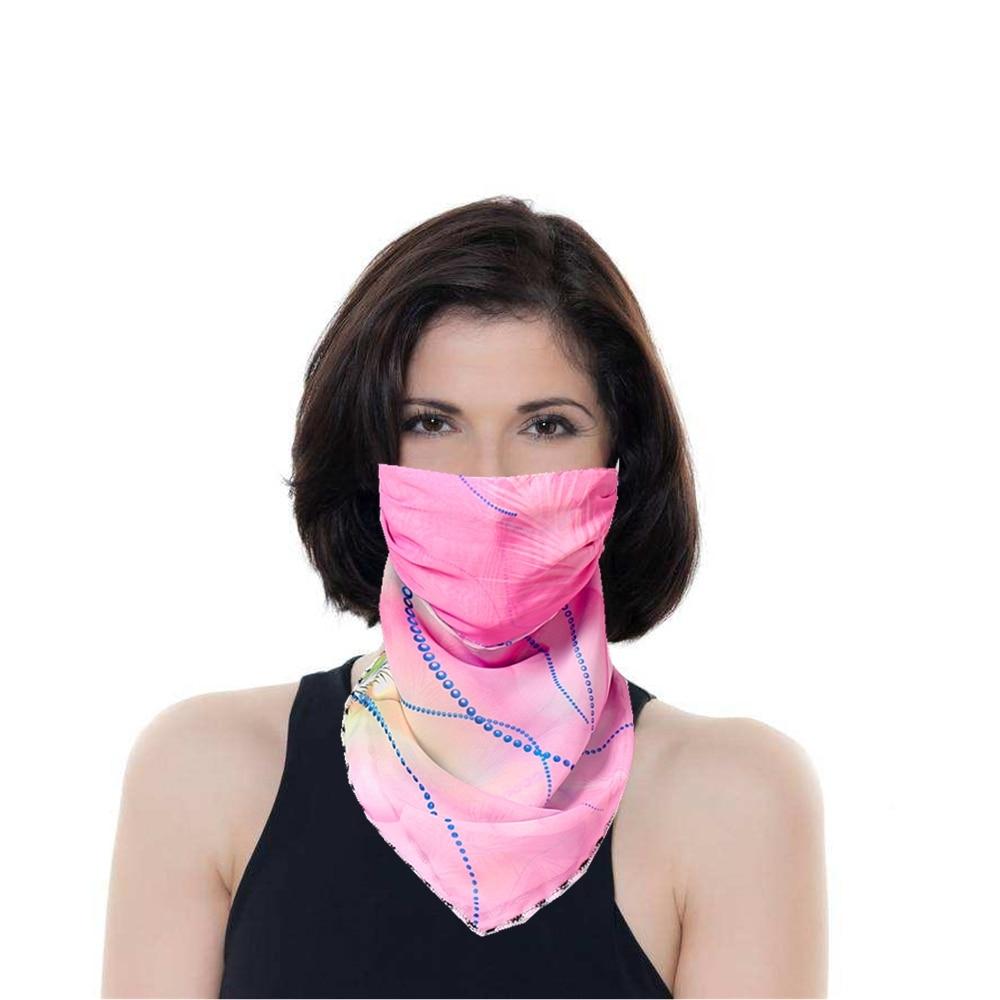 Mouth Neck Face Mask For Women Sunscreen Anti Haze Dust Washable Reusable Dustproof Ice Silk Face Mask 1Pcs