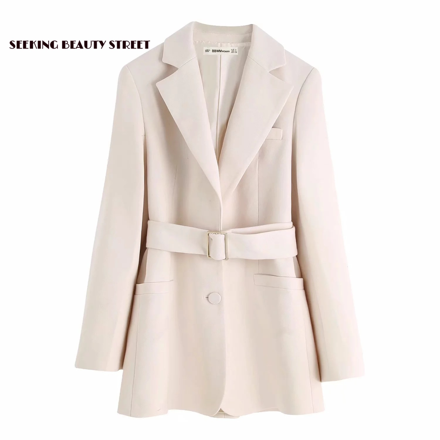 Autumn and Winter 2019 New Ladies'Jacket with Belt Suit women blazers and jackets  winter clothes women