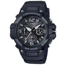 Casio Часы спортивные водонепроницаемые Самурайские черные золотые ограниченное количество Темное сердце электронные часы MCW-100H-1A3