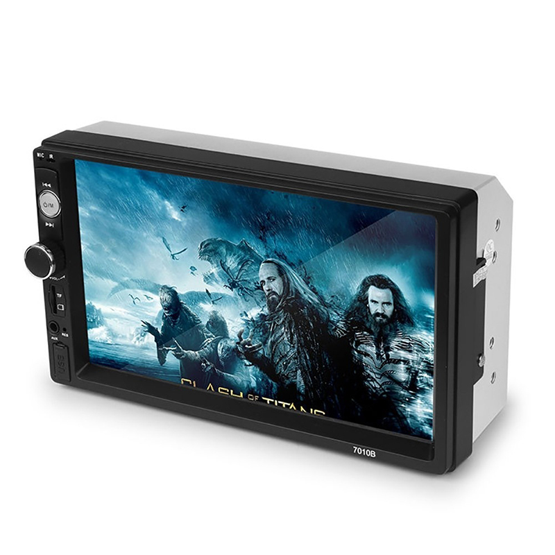 <font><b>7010B</b></font> 2 din Car Radio <font><b>MP5</b></font> Multimedia <font><b>Player</b></font> 7'' HD Touch Screen Audio Stereo Bluetooth USB AUX Support Rear View Camera image