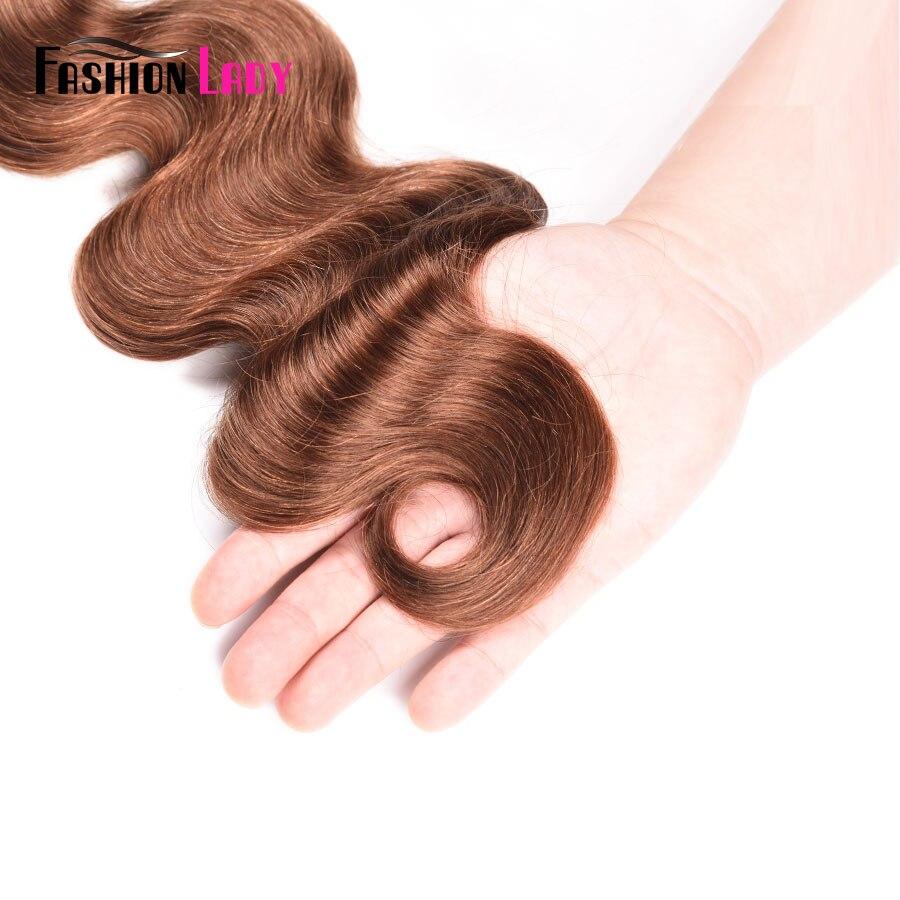 Image 5 - Fashion Lady Pre Colored Bundles Indian Human Hair Weave #30 Bodywave Hair 1/3/4 bundle Per Pack Non Remy HairHair Weaves   -