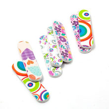 Cute mini nail file Double-sided print small foot care tool(China)