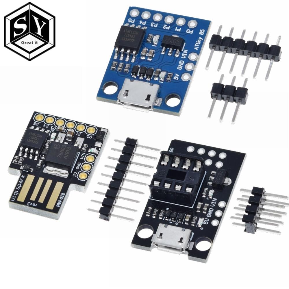 1 шт синий черный TINY85 Digispark Kickstarter Micro развитию ATTINY85 модуль для Arduino IIC I2C USB