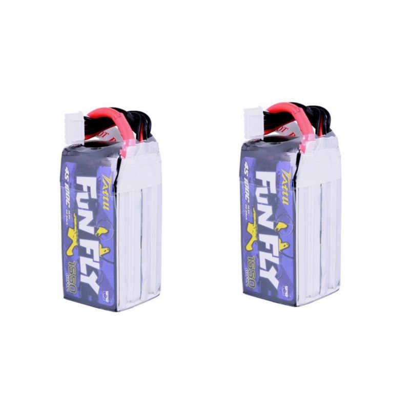 4 sztuk Funfly TATTU 14.8V 1550mAh 1300mAh 100C 4S XT60 wtyczka bateria lipo dla Emax HAWK 5 RC Drone FPV Racing