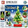 Блоки Sembo Рождественская елка олень дом модели наборы Строительные Кирпичи Игрушка отец город зима Brickheadz Санта Клаус Лось новый год