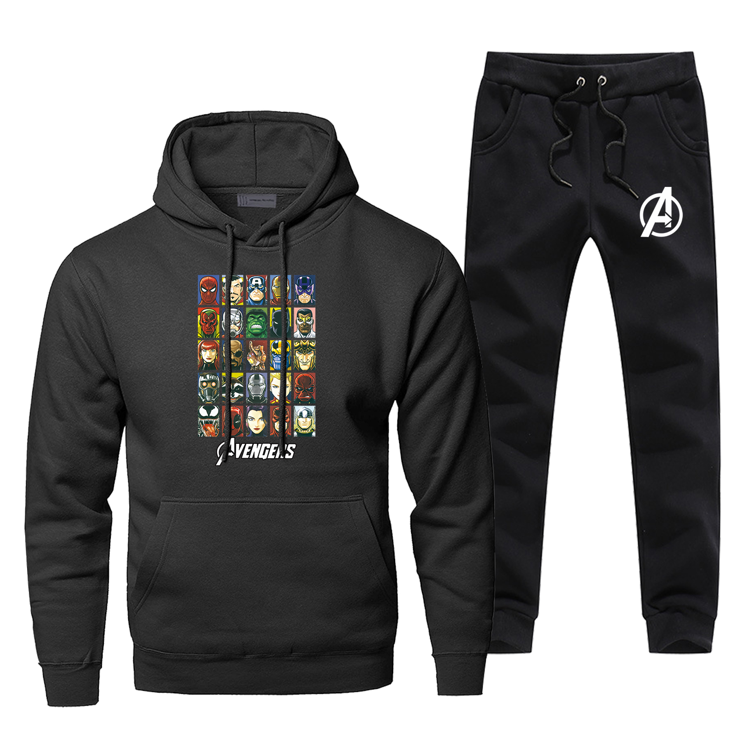 The Avengers Hoodies Pants Sets Men Suit Tracksuit 2 Piece Tops Pant Sweatshirt Sweatpants Sportswear Spring Autumn Sports Set