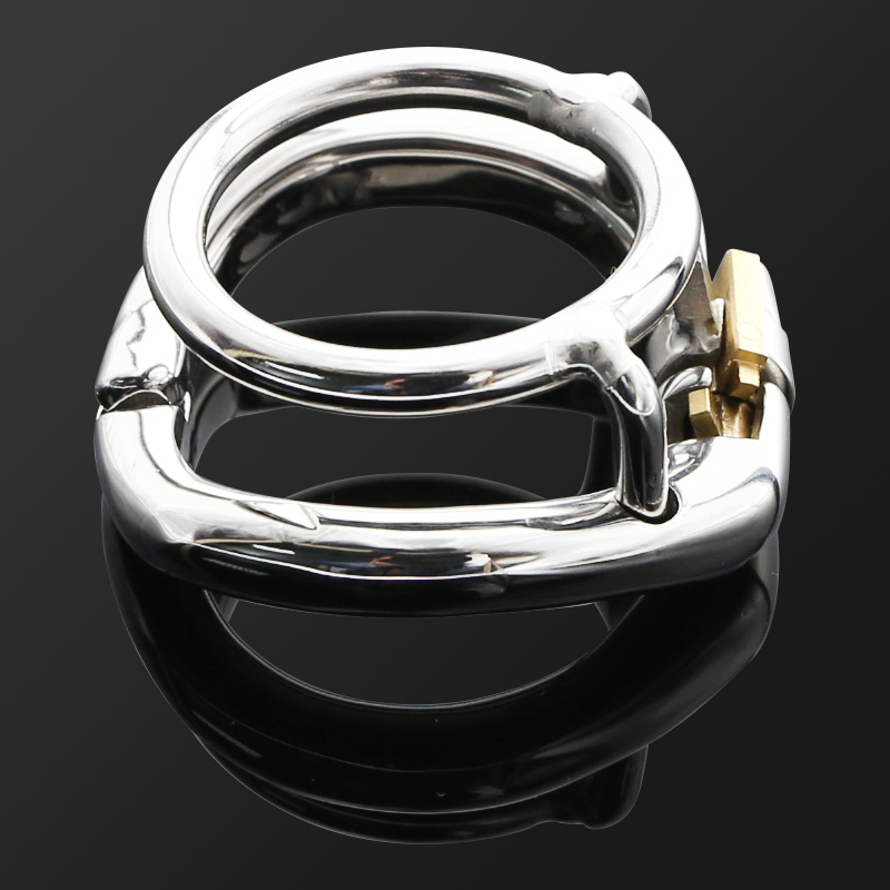 CHASTITY TRAINING RING HINGED RING Stainless Steel Ball Stretch Ring Penis Exercise Scrotum Ball Stretcher Sex Toy