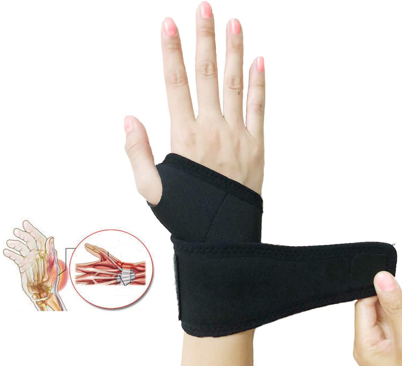 1Pair Self-Heating Wristband Self-Adhesive Sports Protection Professional Wrist Pad Wrist Brace For Men & Women