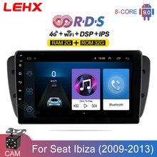 LEHX Car Android 9.0 2GB RAM Radio multimedialny odtwarzacz wideo dla Seat Ibiza 6j 2009 2013 2din autoradio Rds Audio dvd ekran