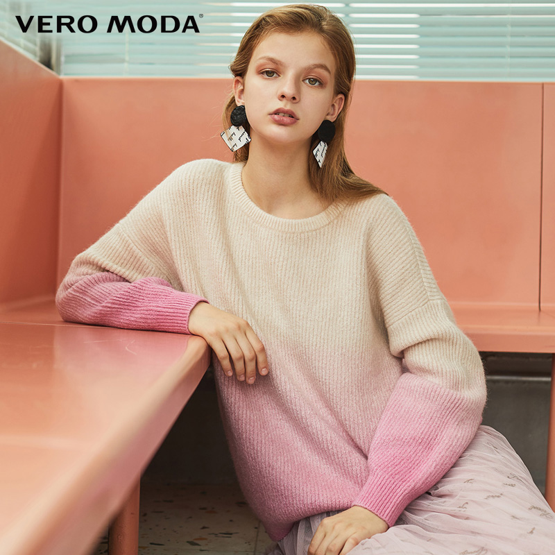 Vero Moda  Women Gradient Colors Sheep Wool Sweater| 319413516