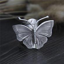 Кольцо из настоящего стерлингового серебра 999 пробы в виде