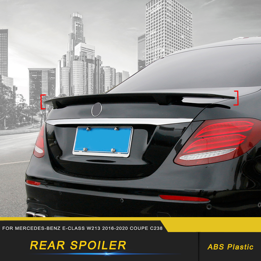 Car Rear <font><b>Spoiler</b></font> Tail Wing Trunk Door Trim Diffuser Cover Sticker Decoration for Mercedes-Benz E-Class W213 2016-2020 Coupe <font><b>C238</b></font> image