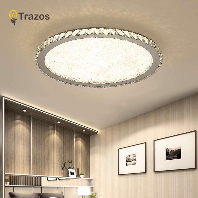 Modern K9 Crystal Led Flush Mount Ceiling Lights Fixture Mixed Crystal Home Ceiling Lamps For Living Room Bedroom Kitchen Ceiling Lamp Lamps For Living Roomceiling Light Fixture Aliexpress