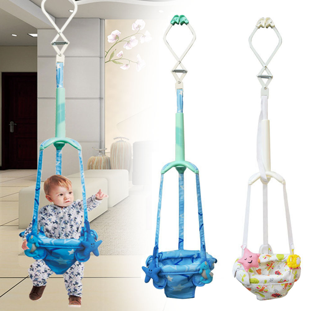 Adjustable Swing Indoor Activity Safety Walker Infant Toddler Assistant Learning Exercise Toys Baby Doorway Jumper Hanging Seat