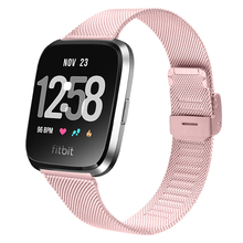 Metal Strap For Fitbit Versa Band Stainless Steel Wristband Replacement Watchband For Fitbit Versa Smart Watch Strap tencloud replacement strap for fitbit versa 2 band stainless steel metal bracelet for versa versa lite smart watch wristband