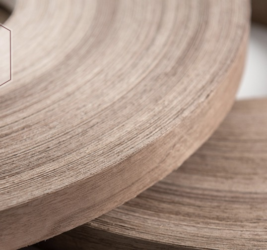 100meters/roller Width:20mm Thickness:0.5mm Natural Black Walnut Skin Edge Banding