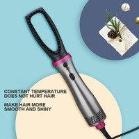 Multifunctional Hair Straightening 5 in 1 Hot Air Brush Styler Comb Brush Negative Ions Hair Styling Tool Blow Dryer Brush 6