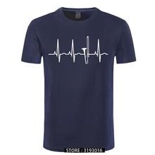 T-Shirt drôle pas cher Trombone battement de coeur T-Shirt graphique Vintage col rond japonais à manches courtes hommes haut T-Shirts été Streetwear