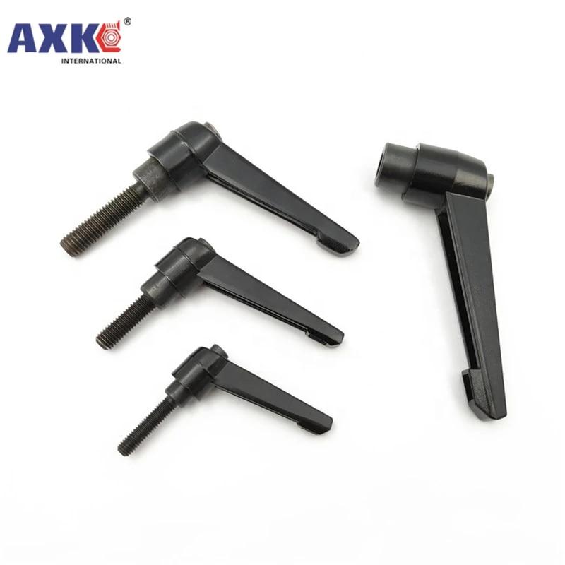 1PC M5 M6 M8 M10 Clamping Lever Machinery L shape Adjustable Handle Locking External Male Thread Knob Bolt Screw Size : M8X45