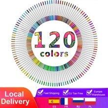 Crayons-feutres, jusqu'à 120 couleurs, épaisseur 2mm ou mine fine 0,4 mm, paquet de feutres de coloriage style aquarelle, à brosse, pour adultes