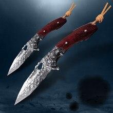 Cuchillo plegable de acero damasco VG10, herramienta táctica EDC, portátil, antialtura, hecho a mano, para caza y acampada